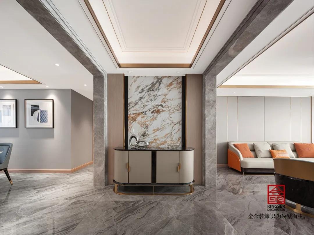 东南智汇城191平米轻奢风格装修-玄关