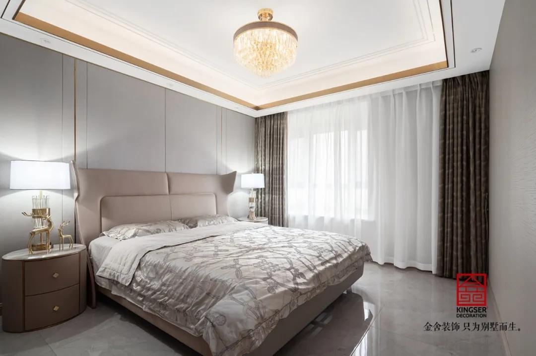 东南智汇城191平米轻奢风格装修-卧室