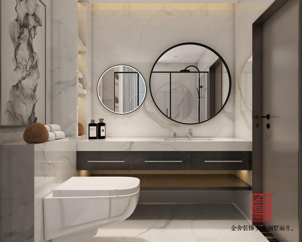 帝王国际168平米轻奢风格装修-卫生间