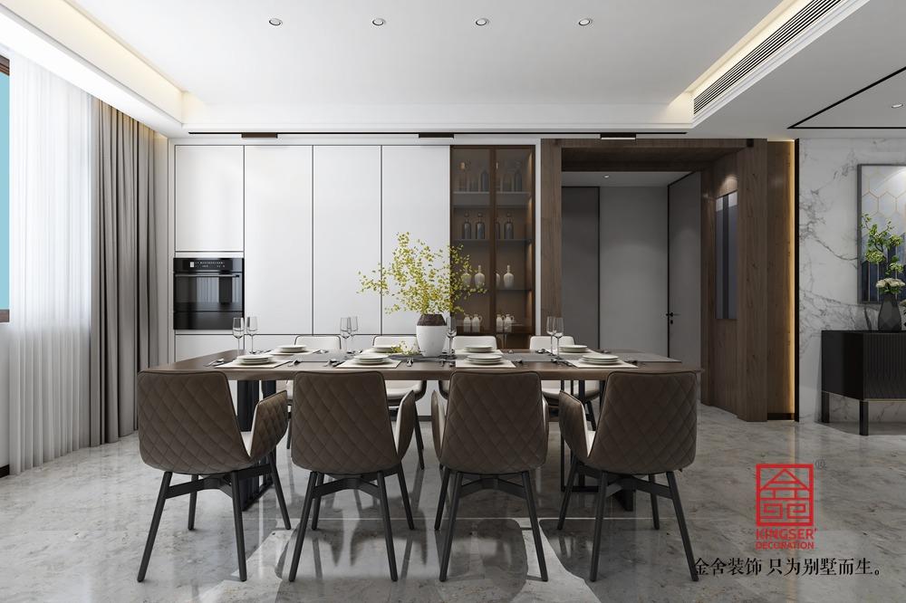 帝王国际168平米轻奢风格装修-餐厅