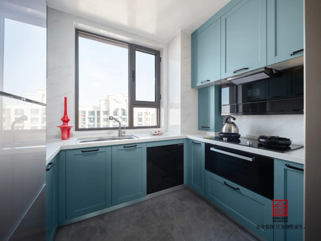 维多利亚三期120平米美式装修-厨房