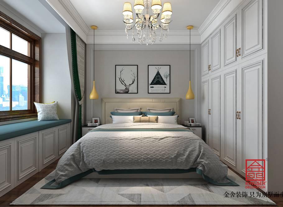国宾壹号139平米装修-美式-卧室