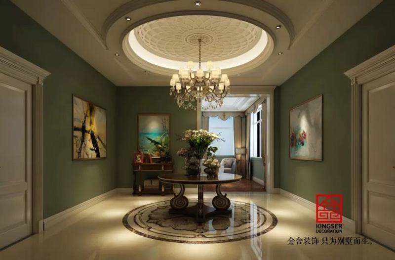 自建别墅800平米装修-美式风格-餐厅