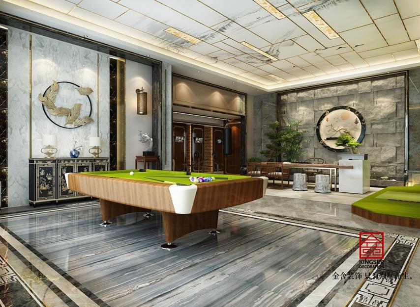 北苑别墅800平米装修-新中式风格-休息室