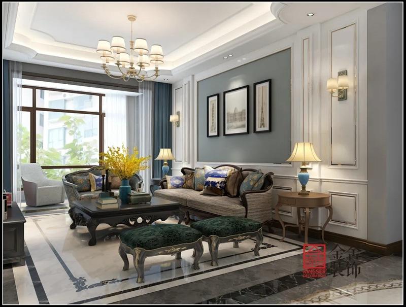 新乐自建别墅700平米装修-客厅