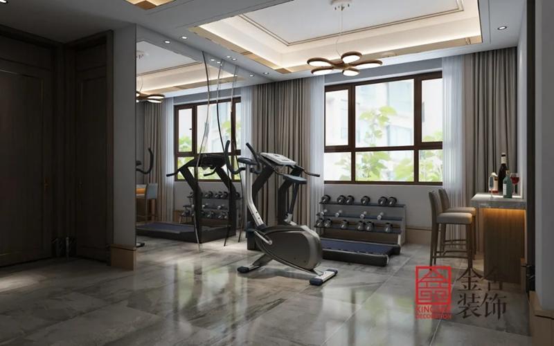 新乐自建别墅700平米装修-健身房
