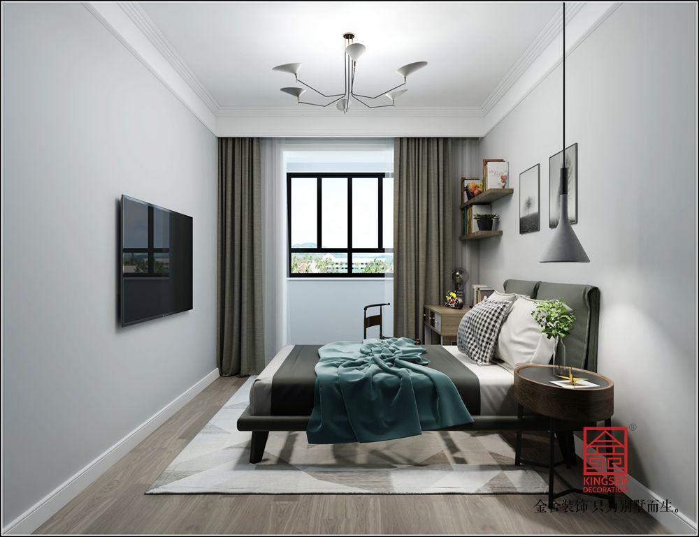 英格兰景城139平米装修-新中式-卧室