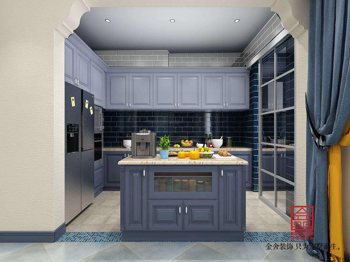 碧桂园280平米美式风格装修-厨房