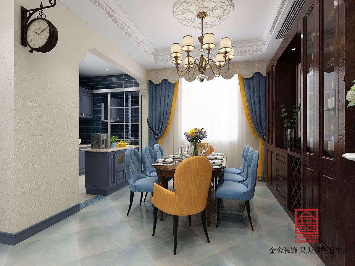 碧桂园280平米美式风格装修-餐厅