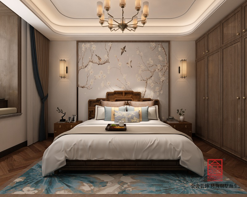 东南智汇城191平米新中式装修-卧室