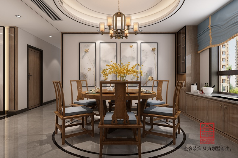 东南智汇城191平米新中式装修-餐厅