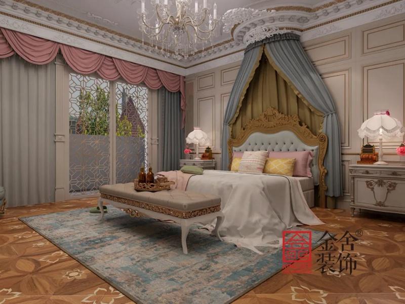 原河名墅600平米装修-法式风格-卧室