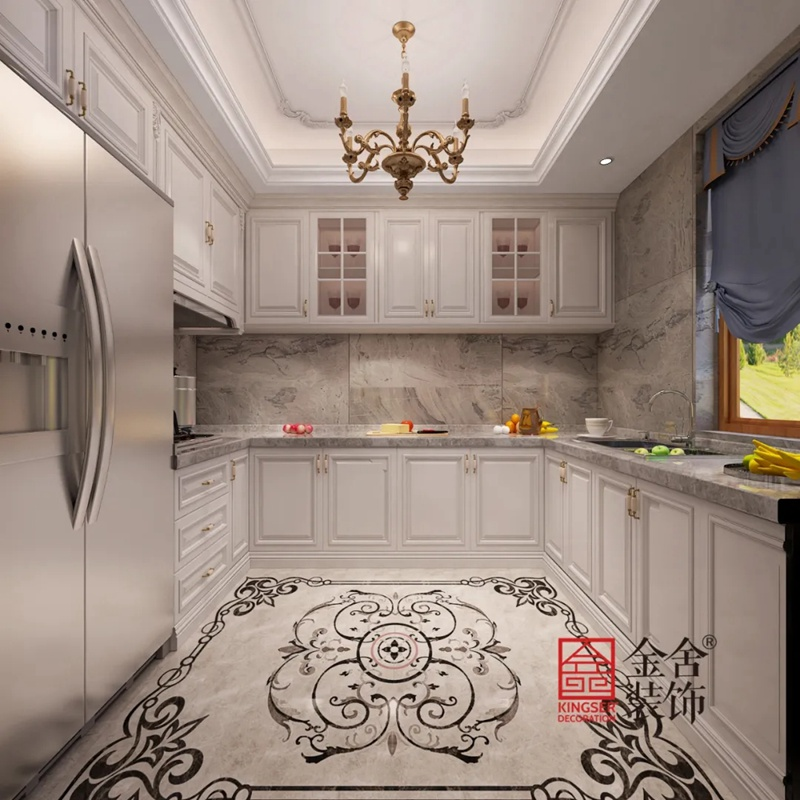 原河名墅600平米装修-法式风格-厨房
