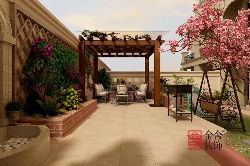 原河名墅600平米装修-法式风格-庭院