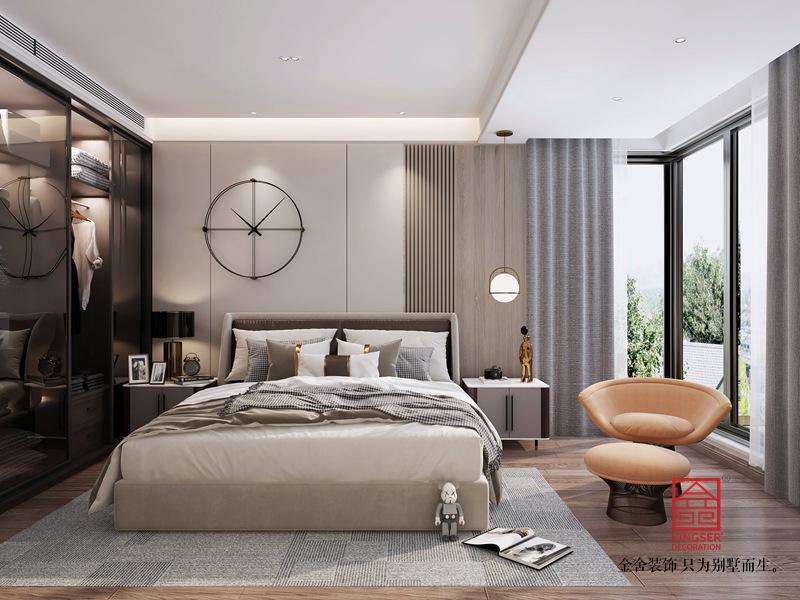 融创中心180平米装修-轻奢风格-卧室