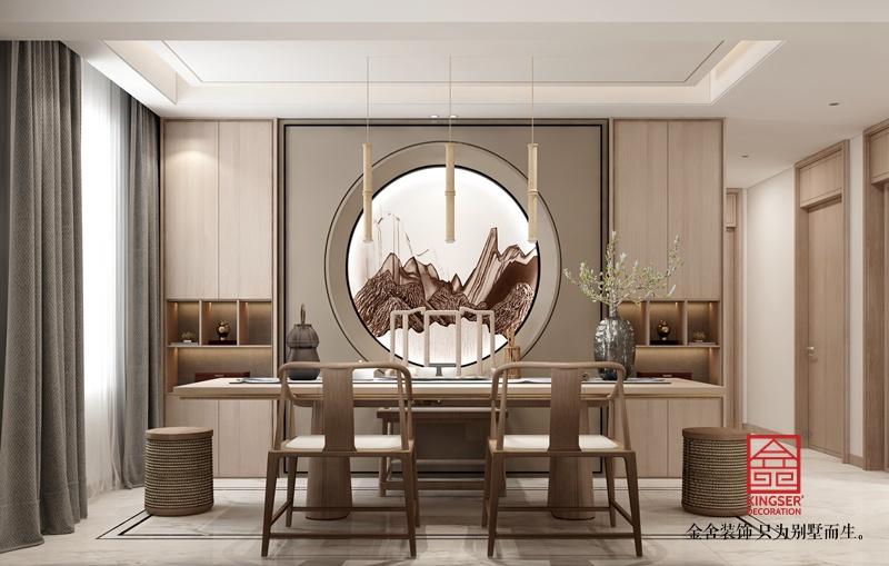 瀚林甲第145平米装修-新中式风格-餐厅