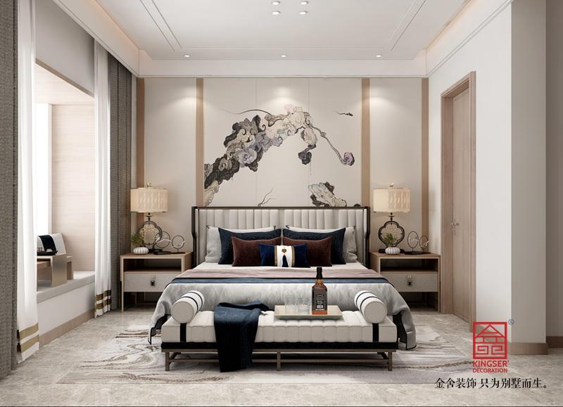 瀚林甲第145平米装修-新中式风格-卧室