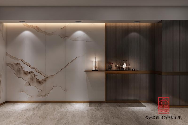 新乐私人会所400平米中式装修-玄关