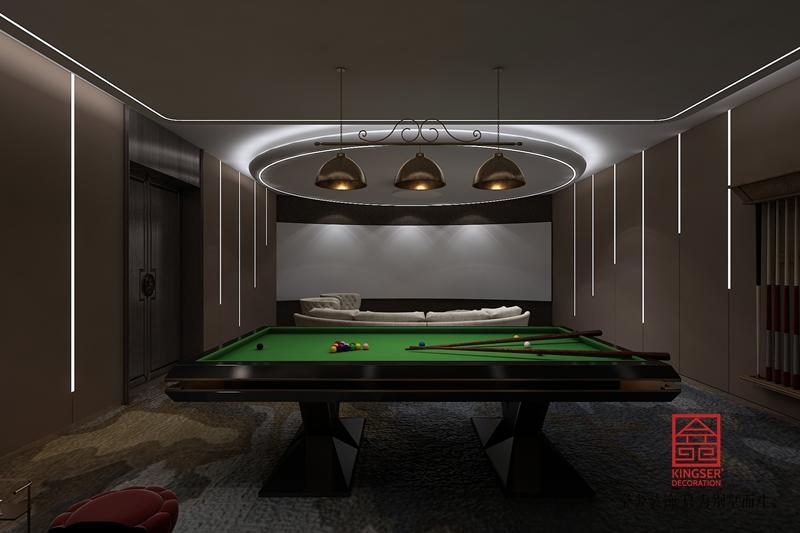 新乐私人会所400平米中式装修-休闲室