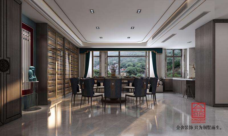 新乐私人会所400平米中式装修-餐厅