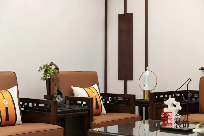 正定墅洋居礼240㎡新中式风格装修-客厅