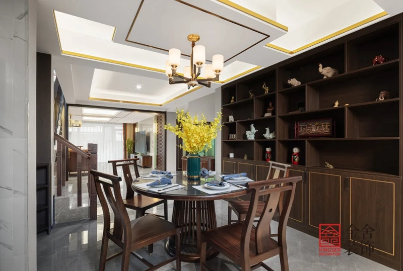 正定墅洋居礼240㎡新中式风格装修-餐厅