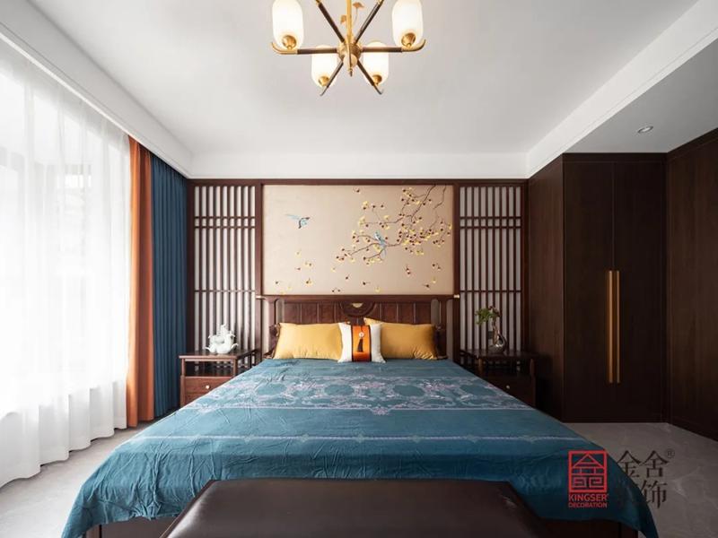 正定墅洋居礼240㎡新中式风格装修-卧室