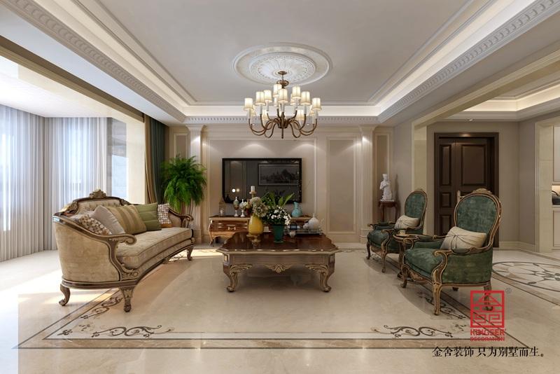 东南智汇城191平米中式装修-客厅