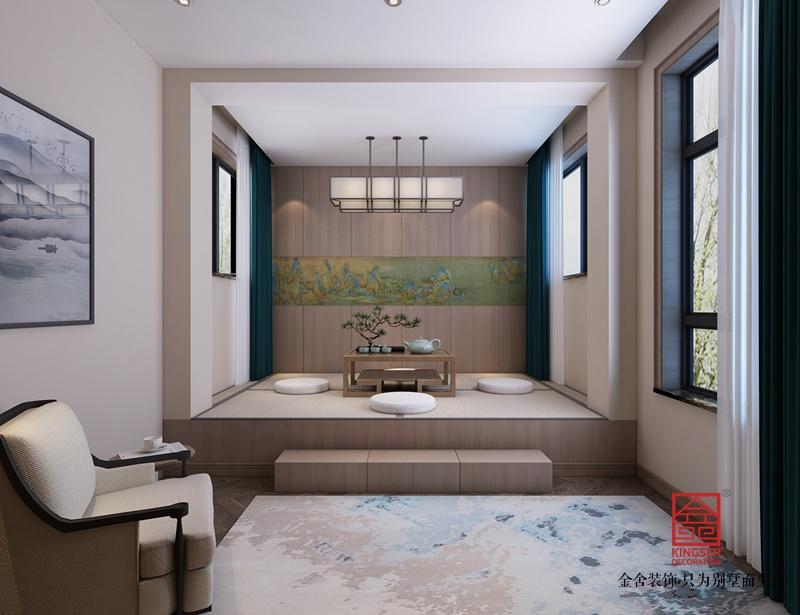 龙湖天宸原著210平米装修-新中式风格-茶室