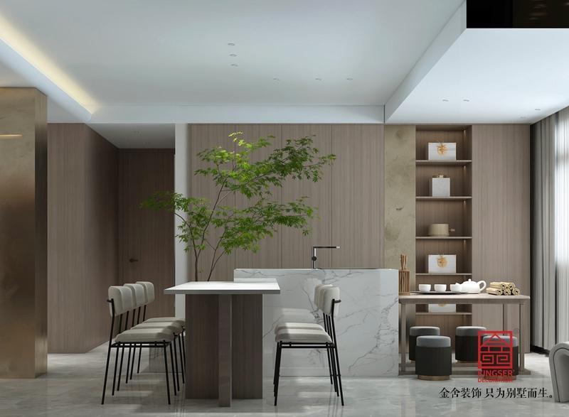 荣盛华府205平米现代风格装修-餐厅