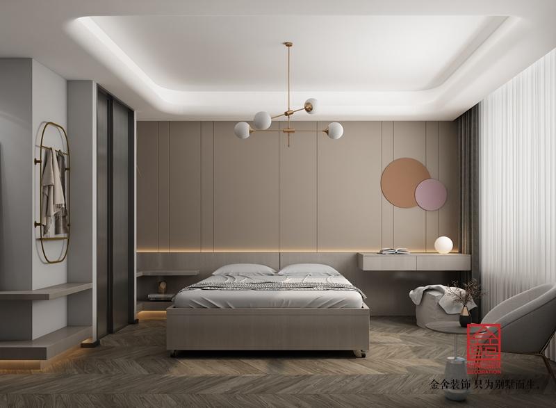 荣盛华府205平米现代风格装修-卧室