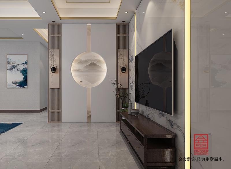 大者350平米新中式风格装修-客厅