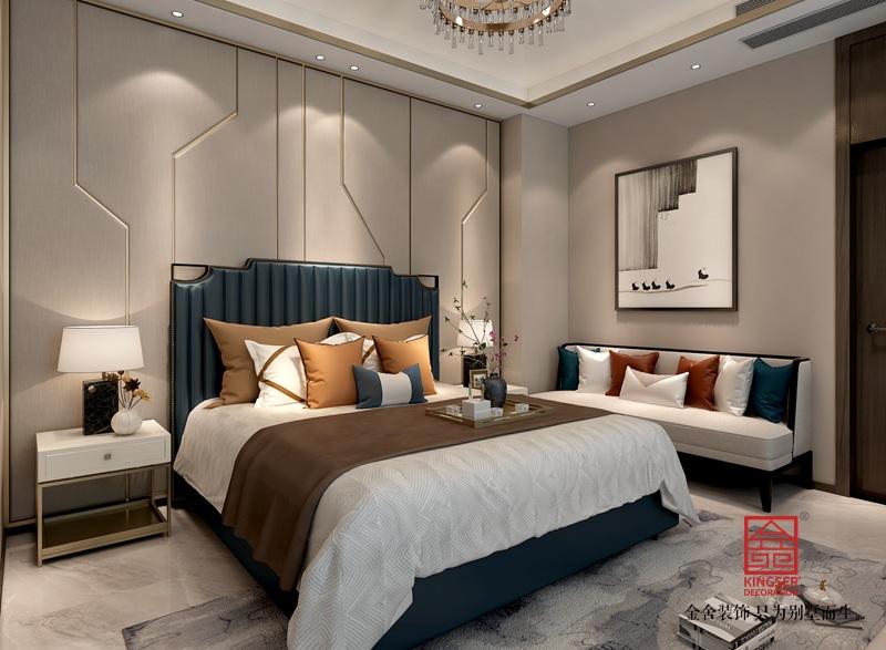 龙湖天辰原著200平新中式风格装修-卧室
