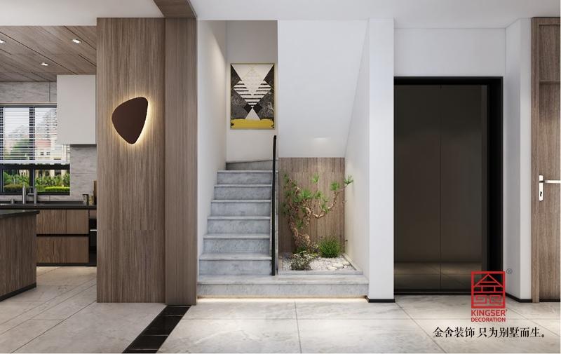 龙湖天辰原著200平米装修-现代简约-楼梯