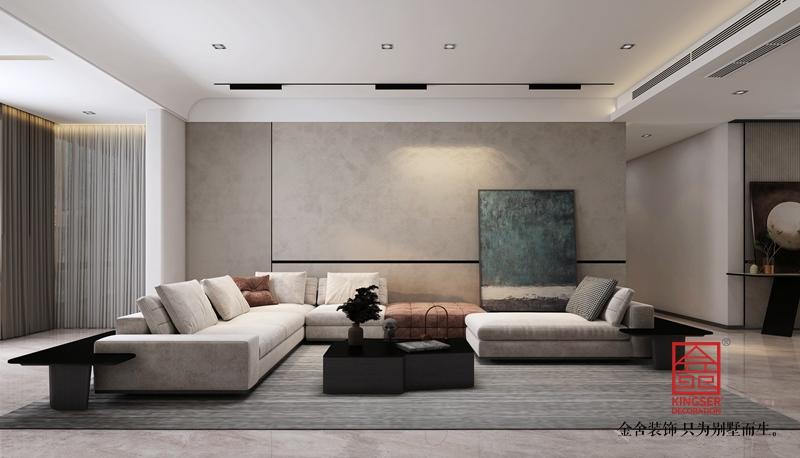 融创中心214平米装修-简约风格-客厅