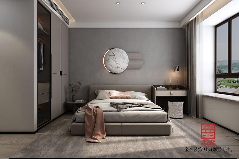 融创中心214平米装修-简约风格-卧室
