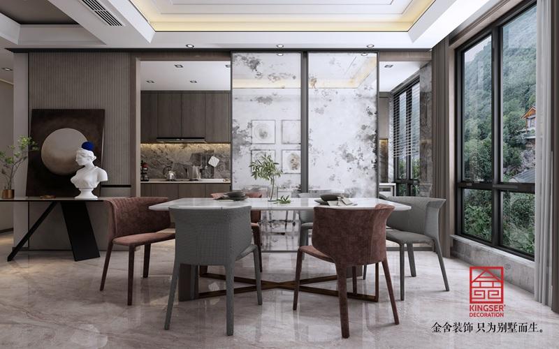 融创中心214平米装修-简约风格-餐厅