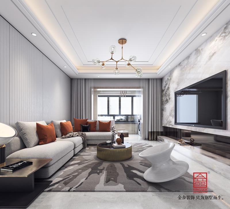 瀚林甲地130平米装修-简约风格-客厅