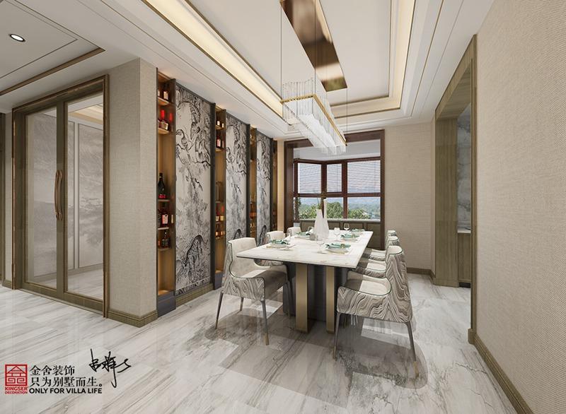 荣盛华府205平米新中式风格装修-餐厅