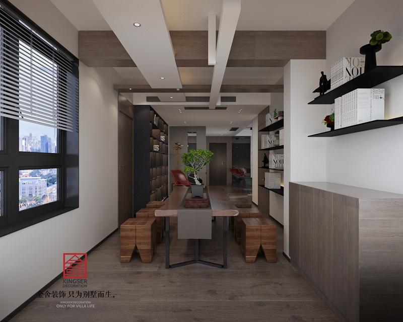 荣盛华府190平米现代极简风格装修-茶室