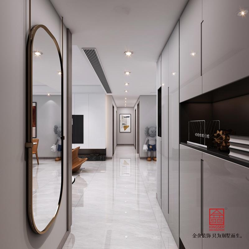 东南智汇城150平米装修-现代简约-玄关