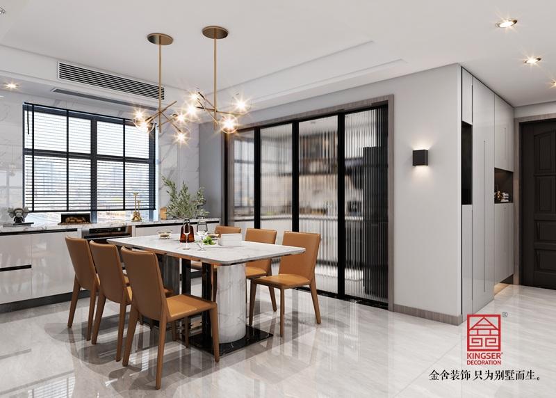 东南智汇城150平米装修-现代简约-餐厅