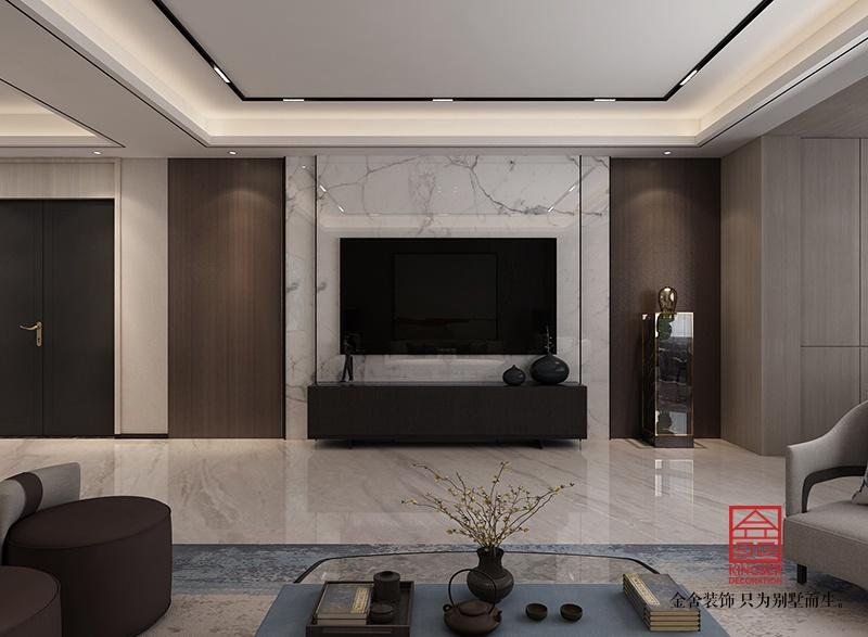 荣盛华府205平米中式装修-客厅