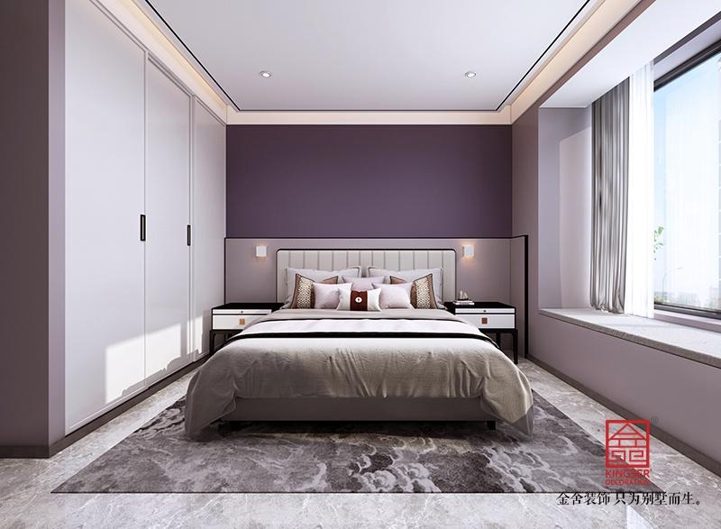 荣盛华府205平米中式装修-卧室