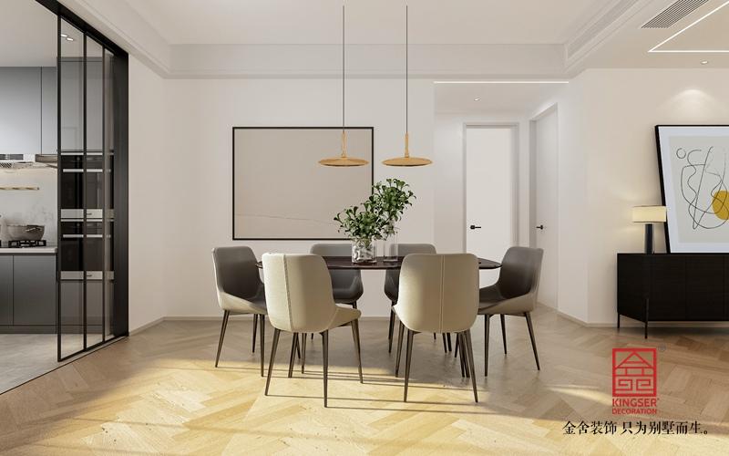 融创中心180平米现代极简风格装修-餐厅