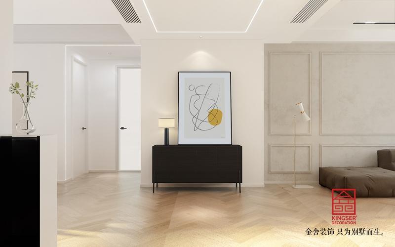 融创中心180平米现代极简风格装修-玄关