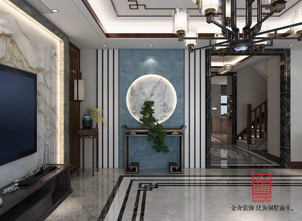 大者280平米新中式风格装修-客厅
