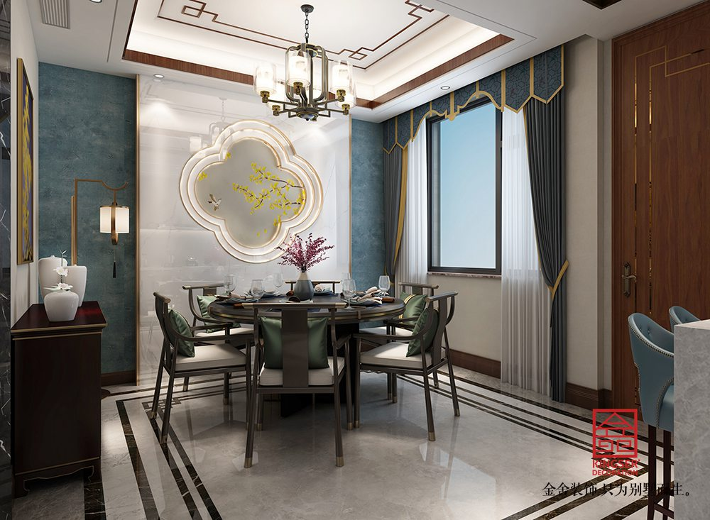 大者280平米新中式风格装修-餐厅