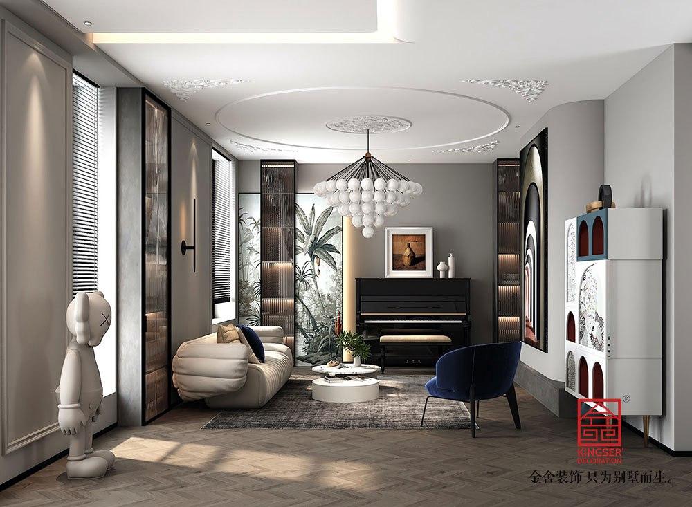 东南智汇城别墅装修-现代风格-客厅