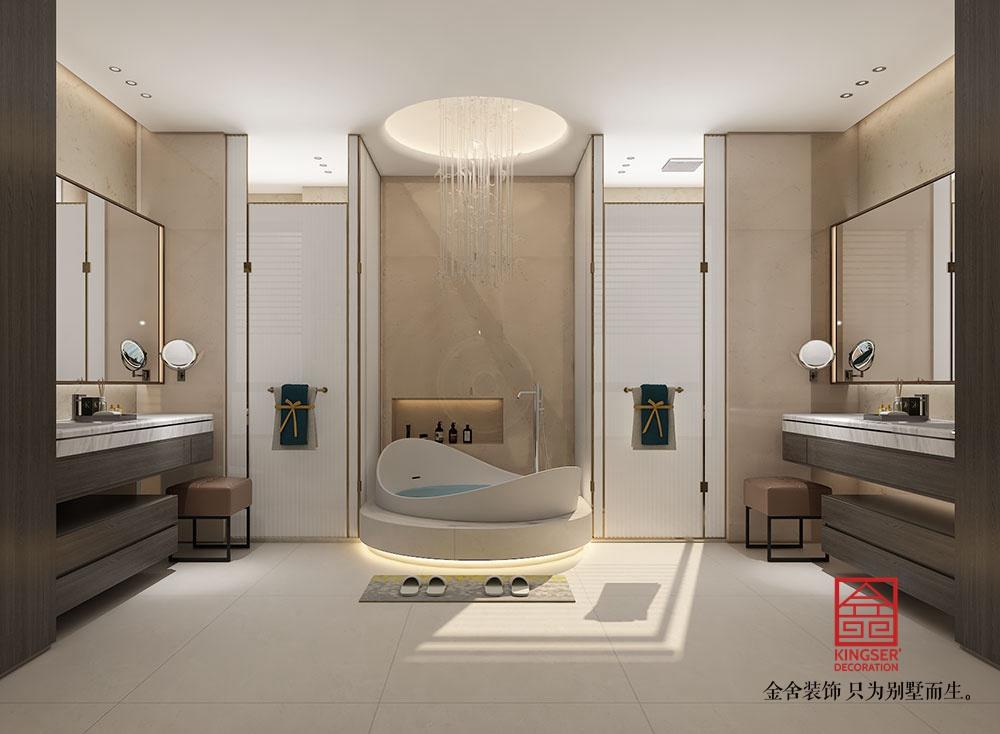 东南智汇城别墅装修-现代风格-卫生间